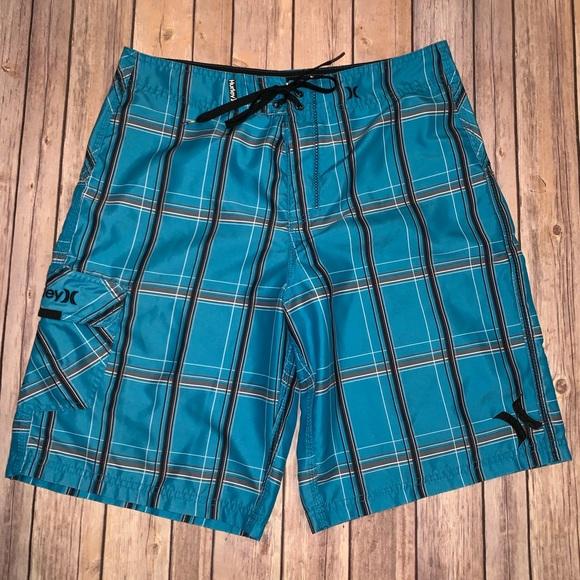 Hurley Other - Hurley Mens blue swim board shorts Sz 32